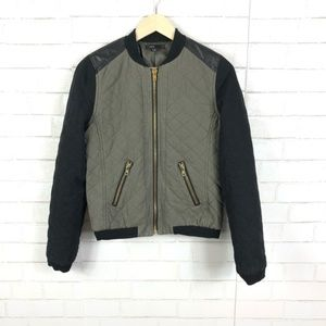 Fate Quilted Bomber Moto Jacket